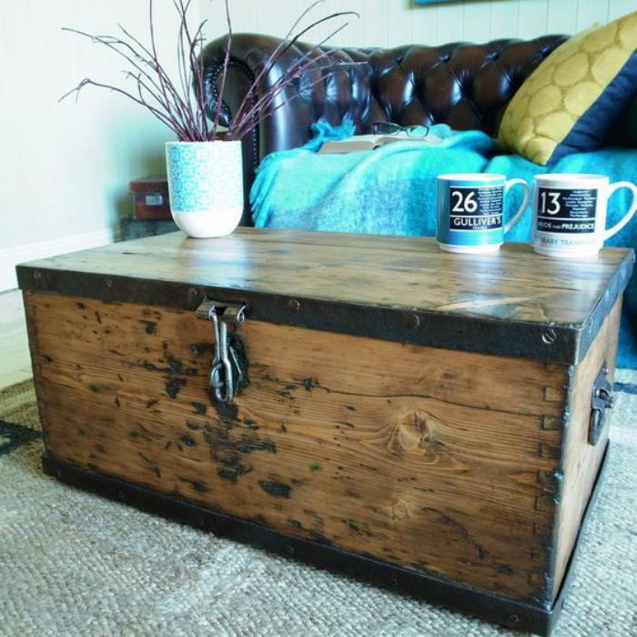 La table basse coffre une touche d co vintage qui va for Table basse avec coffre