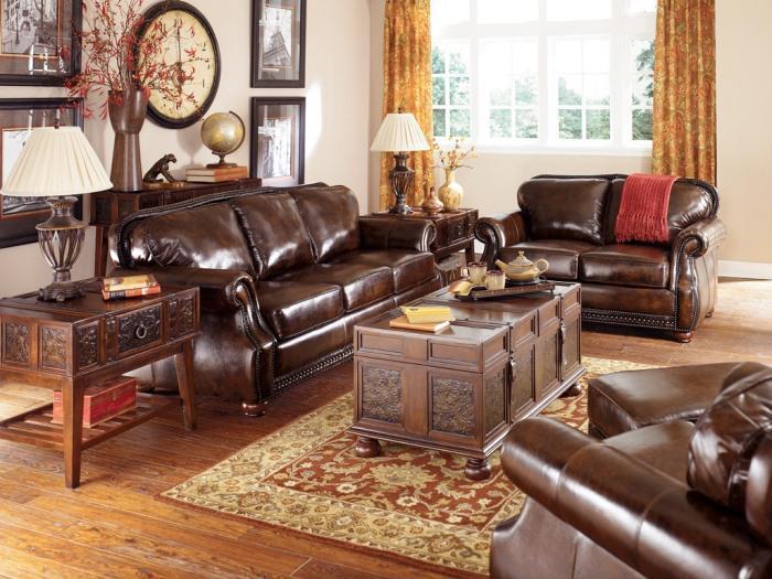 table-basse-coffre-sofa-en-cuir-marron-pour-le-salon