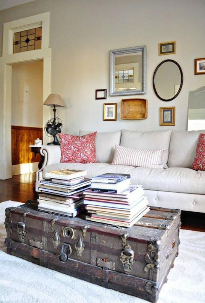 La table basse coffre une touche d co vintage qui va - Table de salon coffre ...