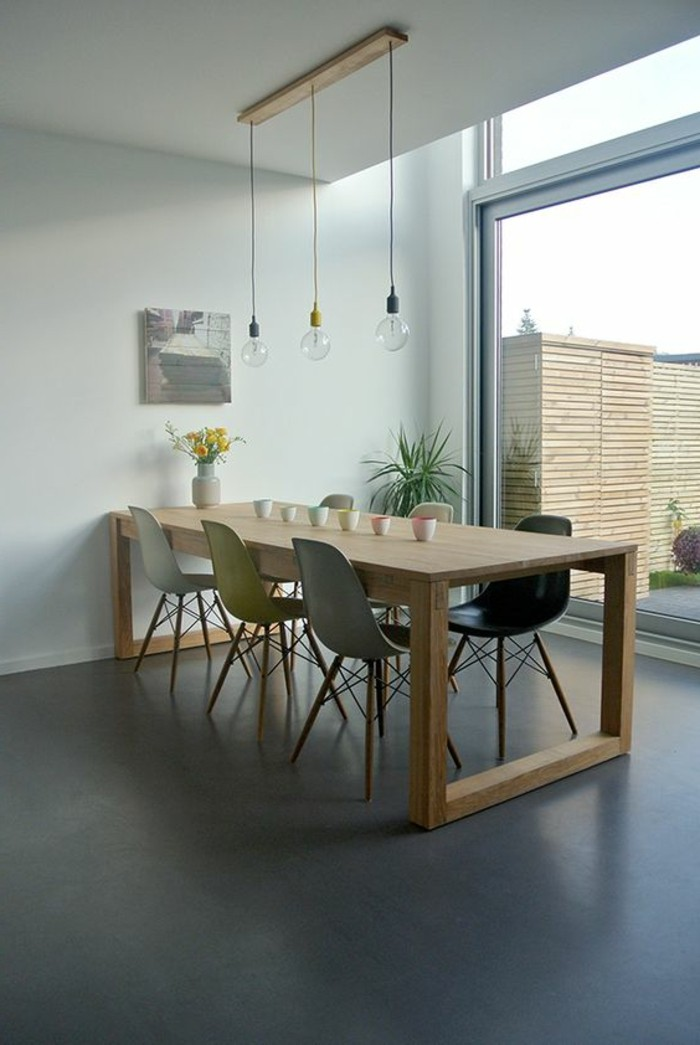 La meilleure table de salle manger design en 42 photos for Table bois clair