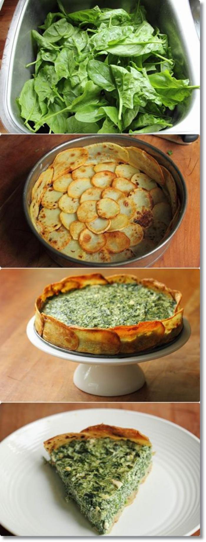 tarte-salée-aux-pommes-de-terre-et-épinards