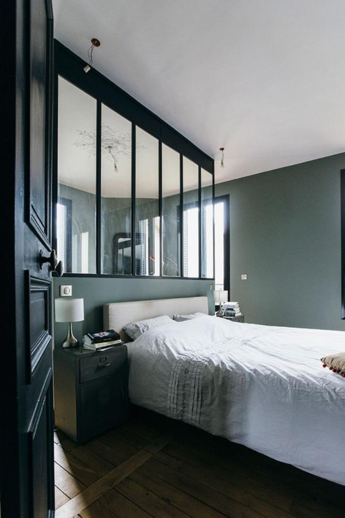 Idee Chambre Bebe Nature :  fenêtre vitrée dintérieur, délimitation pour la suite parentale