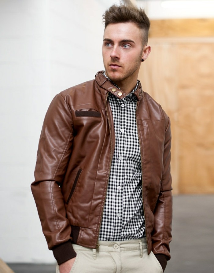 52ebc682189 Le blouson cuir homme - Symbole de Masculinité - Archzine.fr