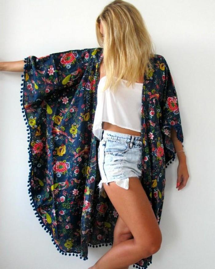 vetement-hippie-veste-manche-courte-festival-printemps-été-kimono-arrondi