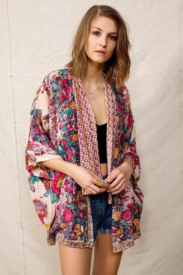 La veste kimono de la tradition la modernit - Style boheme chic femme ...