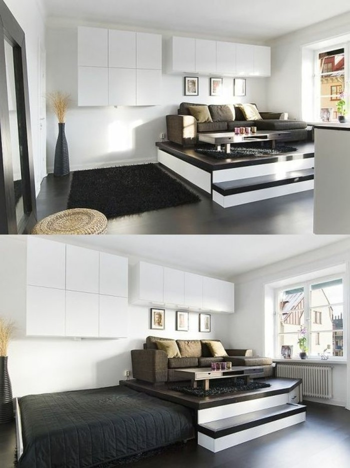 83 photos comment am nager un petit salon. Black Bedroom Furniture Sets. Home Design Ideas