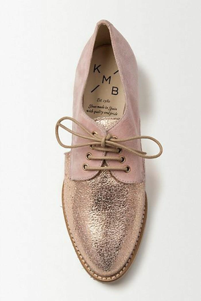 0-anthropologie.eu-derbies-femme-pas-cher-rose-poudré-rose-clair-chaussures-femme