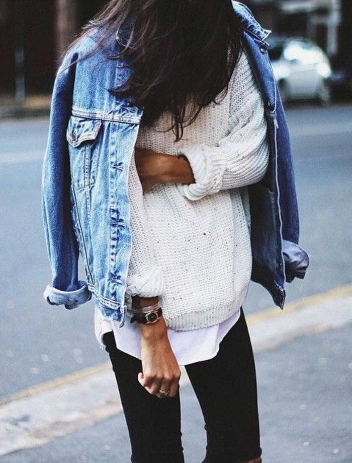 0-denim-slim-noir-femme-blouse-blanche-femme-tricoté-à-main-cheveux-noires