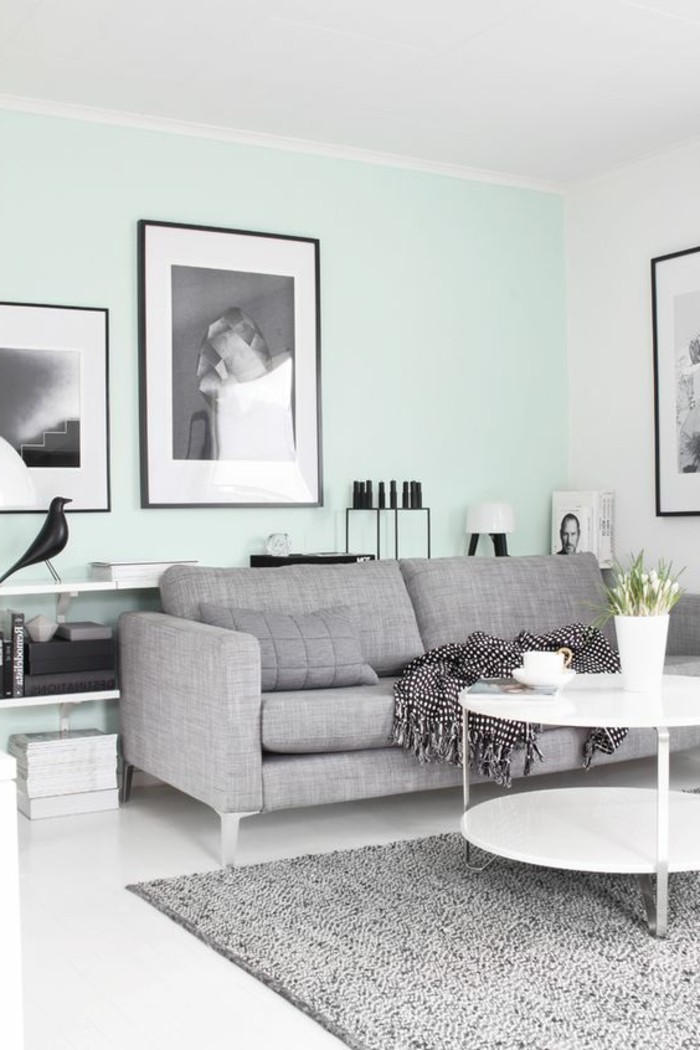 Quelle couleur pour un salon 80 id es en photos - Salon taupe et gris ...