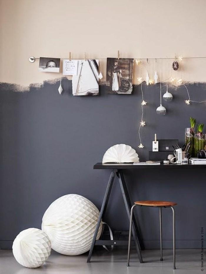 Nos astuces en photos pour peindre une pi ce en deux couleurs - Peinture murale en ligne ...