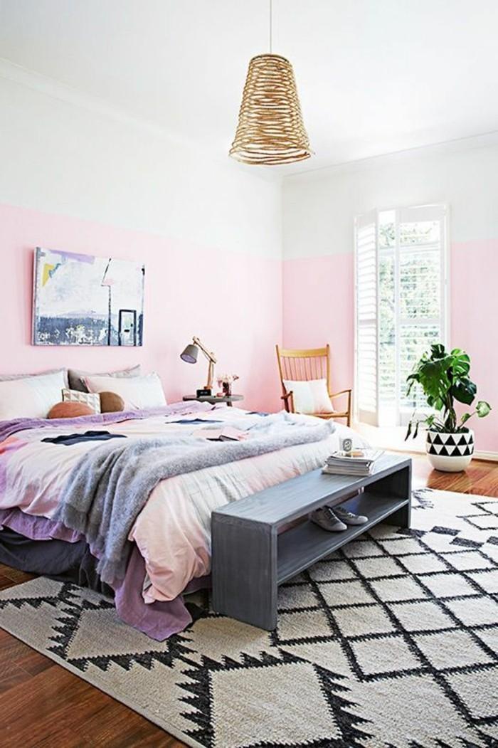 Nos astuces en photos pour peindre une pi ce en deux couleurs for Peindre une chambre a coucher