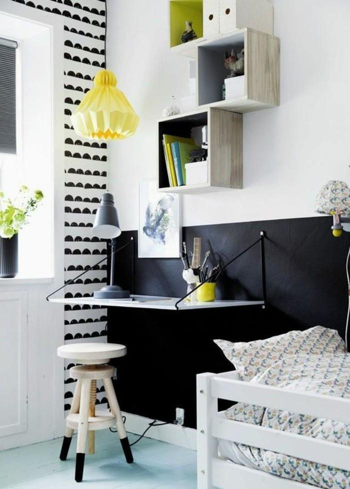0-jolie-chambre-adulte-murs-en-blanc-et-noir-peindre-une-pièce-en-deux-couleurs
