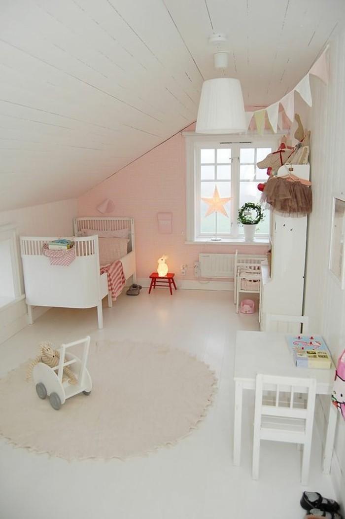 80 astuces pour bien marier les couleurs dans une chambre - Chambre fille rose ...