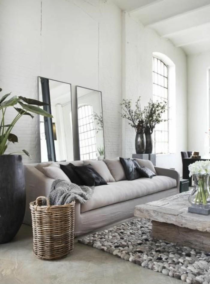 0-magnifique-saon-gris-beige-haut-plafond-idee-deco-peinture-salon-salon-beige-et-blanc