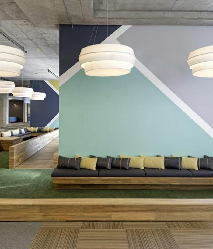 nos astuces en photos pour peindre une pi ce en deux couleurs. Black Bedroom Furniture Sets. Home Design Ideas