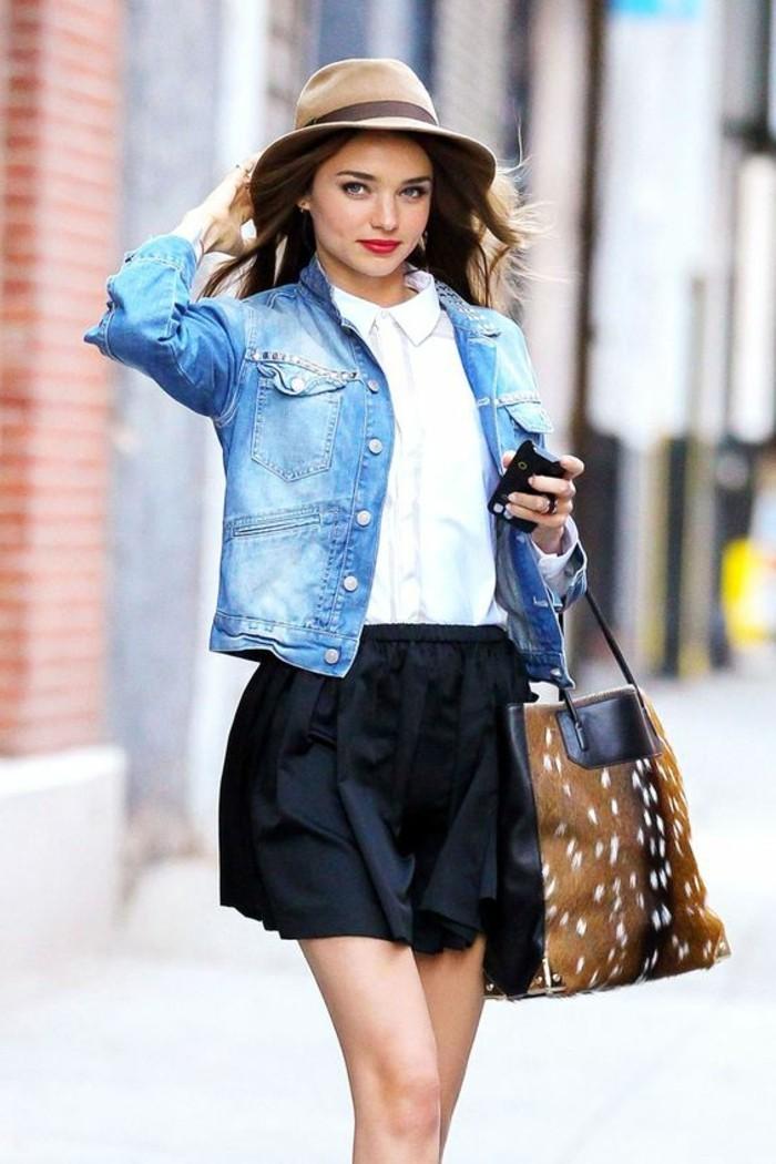 0-outfit-chic-chapeau-femme-moderne-chemise-blanche-veste-denim-femme