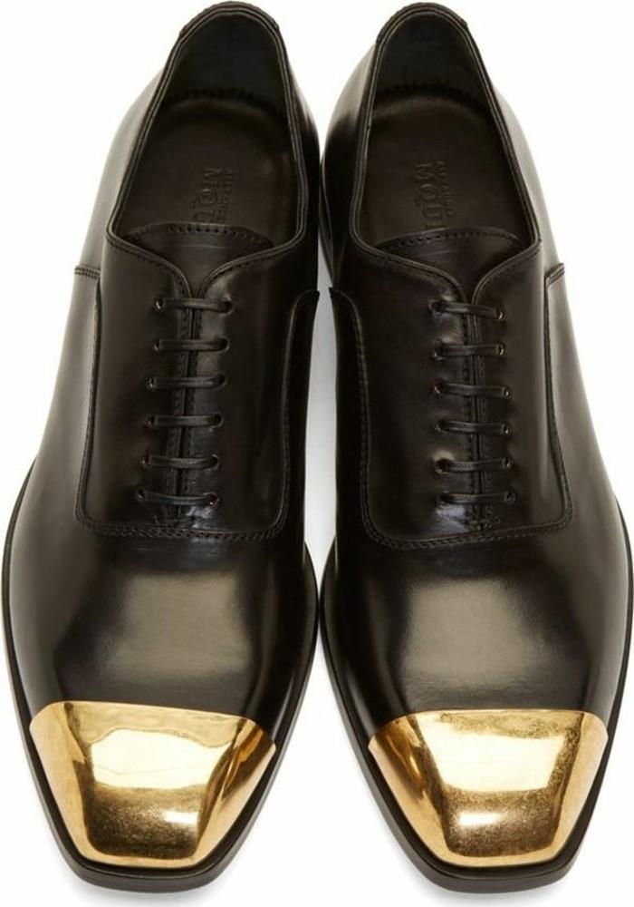 0-ssense.com-chaussures-femme-deribes-pas-cher-cuir-noir-bout-doré