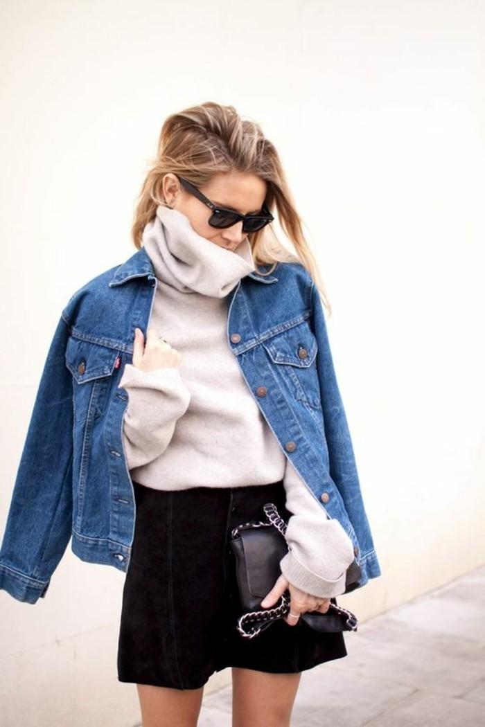 0-veste-en-jean-boyfriend-femme-tendances-de-la-mode-jupe-courte-noire