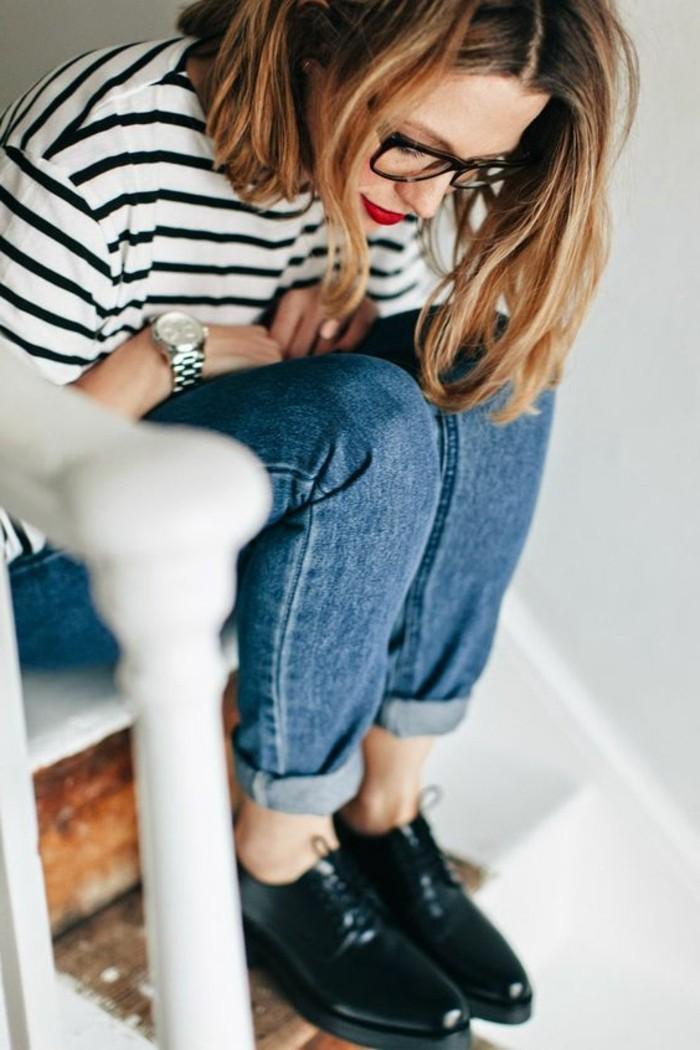 00-derby-chaussures-femme-denim-bleu-t-shirt-aux-rayures-femme