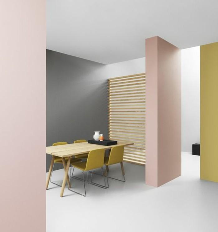 Nos astuces en photos pour peindre une pi ce en deux couleurs for Peinture murale salon couleurs