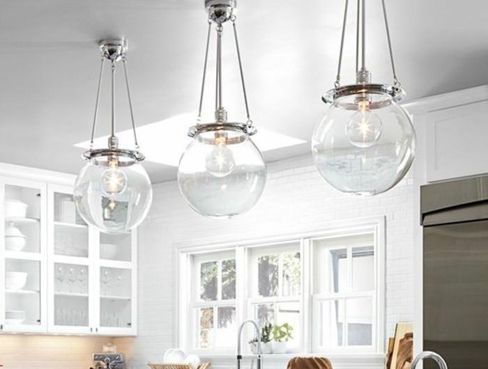 Luminaire de cuisine rglette fluo vnus blanc l6cm 21w le for Suspension 3 lampes pour cuisine