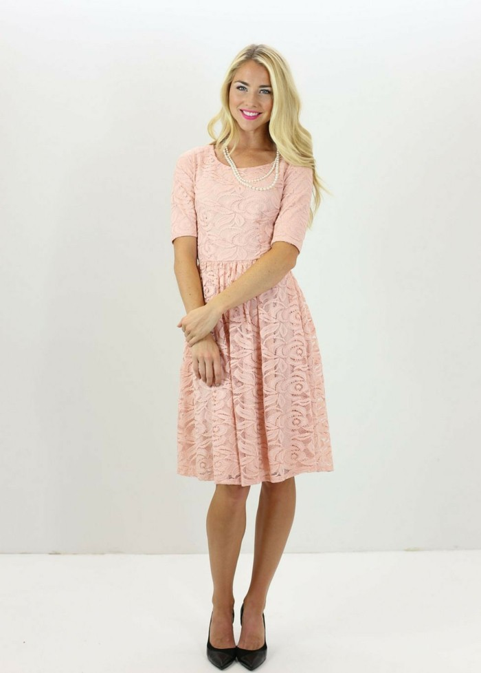 Formidable-robes-témoin-mariage-robe-mariage-témoin-cool-courte-rose-modeste