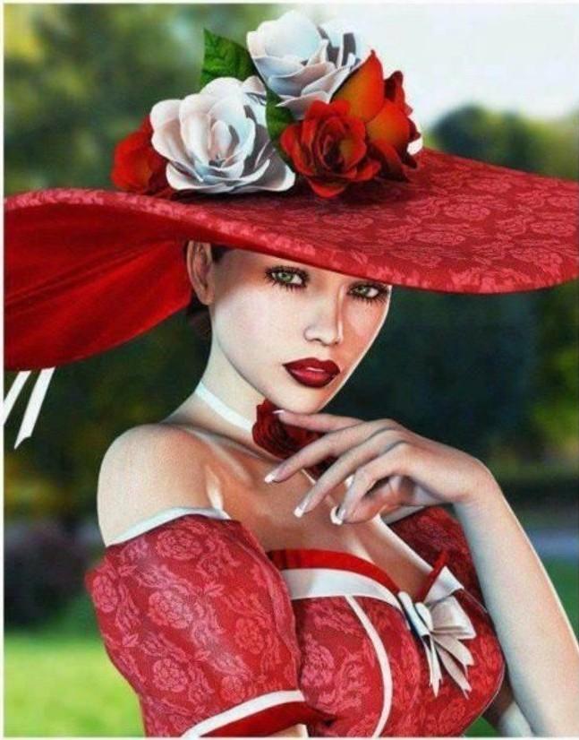 Hut-rouge-vos-vetements-en-rouge-ou-noire-idée-quoi-porter