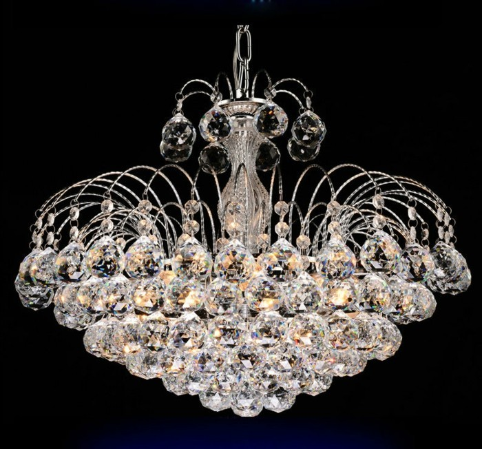 Lustre-a-pampilles-crystal-chandelier-lighting-Silver