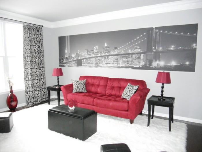 Red-Black-and-White-Living-Room-Decor8