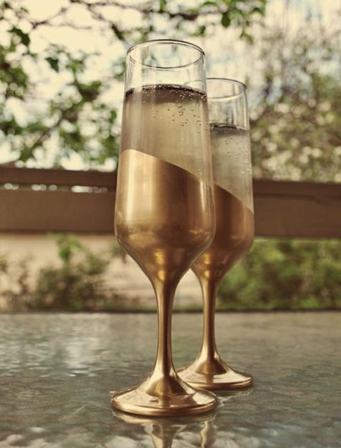 agréable-verre-a-champagne-coupe-de-champagne-idée-originale-en-or