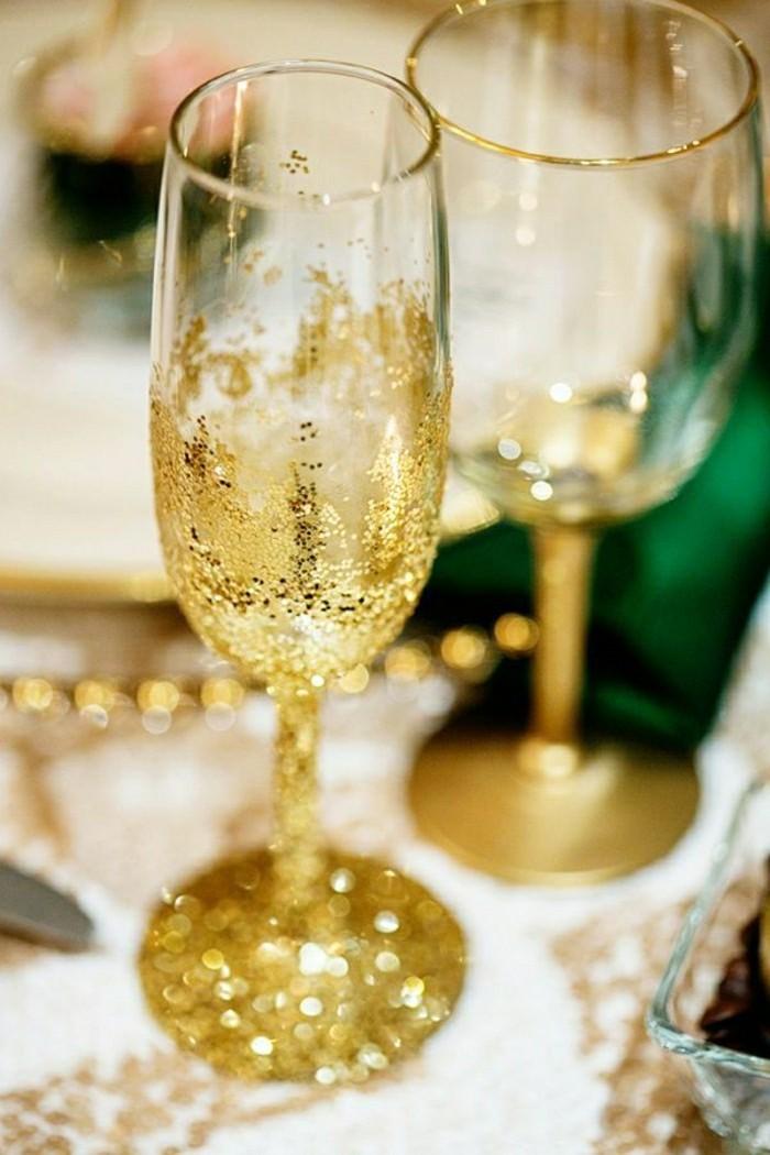 agreable-verre-a-champagne-coupe-de-champagne-verres-dorées