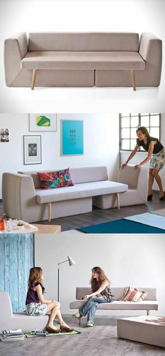 aménagement-petit-salon-blanc-beige-tapis-bleu-murs-blancs-tapis-bleu-clair-et-bleu-foncé