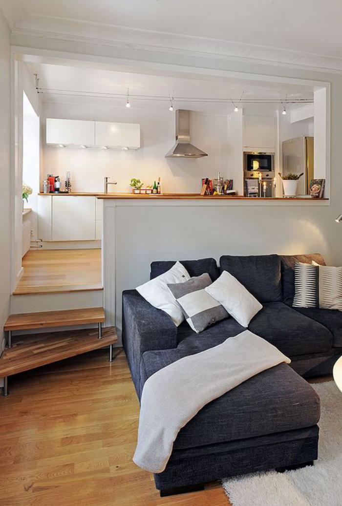 aménager-un-studio-beau-coin-salon-et-espace-cuisine