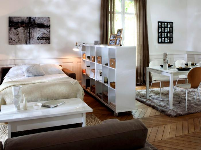 fa ons d 39 am nager un studio beaucoup d 39 id es en photos. Black Bedroom Furniture Sets. Home Design Ideas