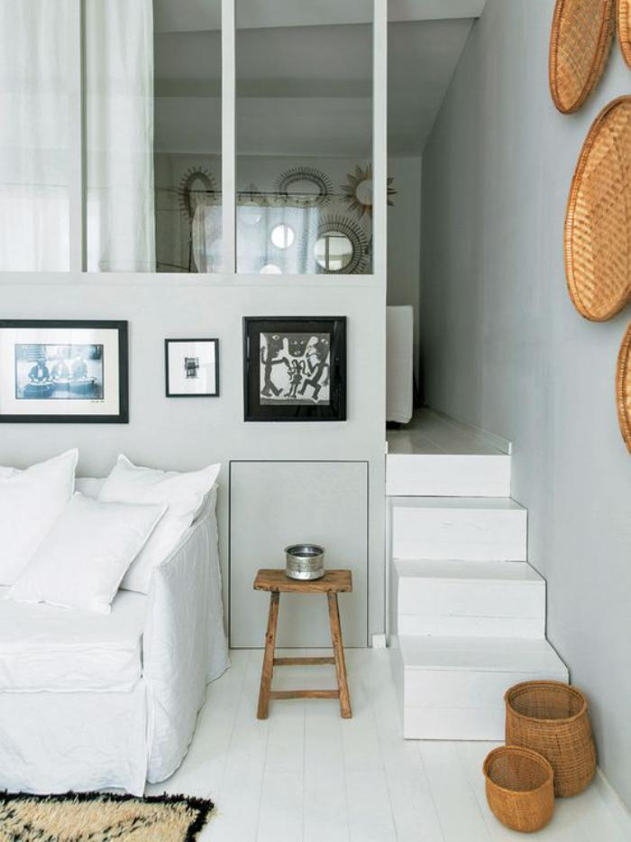Fa ons d 39 am nager un studio beaucoup d 39 id es en photos - Comment decorer un appartement blanc ...