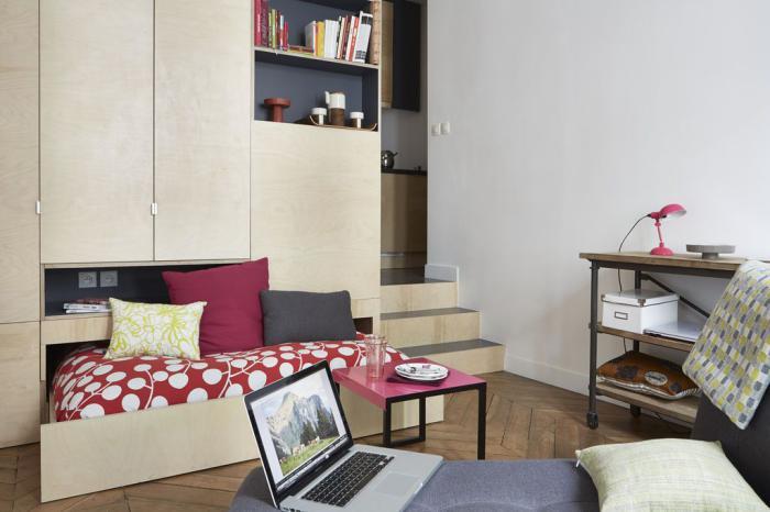 fa ons d 39 am nager un studio beaucoup d 39 id es en photos. Black Bedroom Furniture Sets. Home Design Ideas