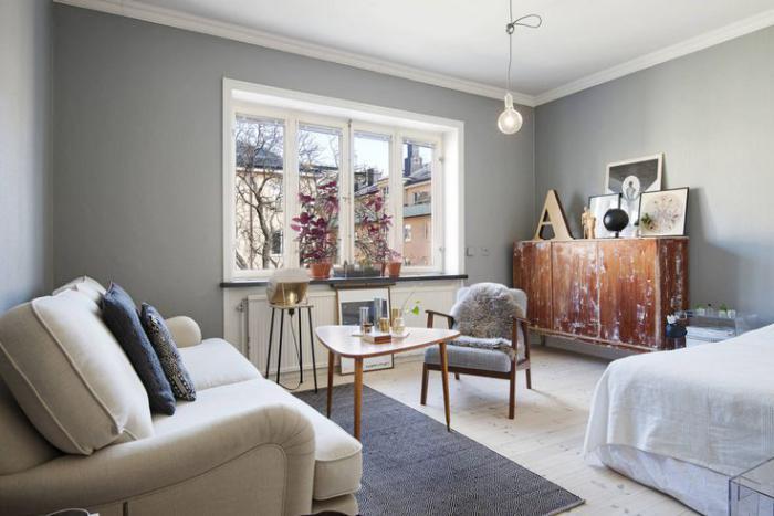 aménager-un-studio-studio-meublé-vintage