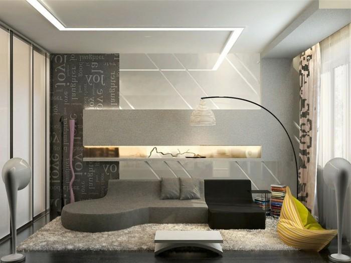amenager-petit-espace-tapis-beige-amenager-un-petit-espace-sol-en-parquet-noir