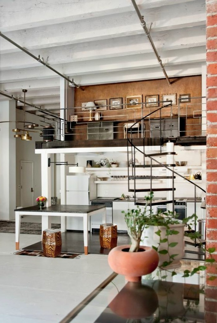 83 photos comment am nager un petit salon - Appartement style industriel ...