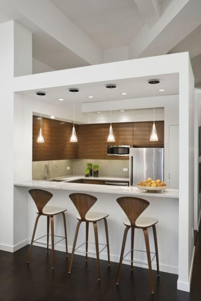 bar-de-cuisine-chaise-de-cuisine-sol-noir-cuisine-moderne-lampadaire-castorama