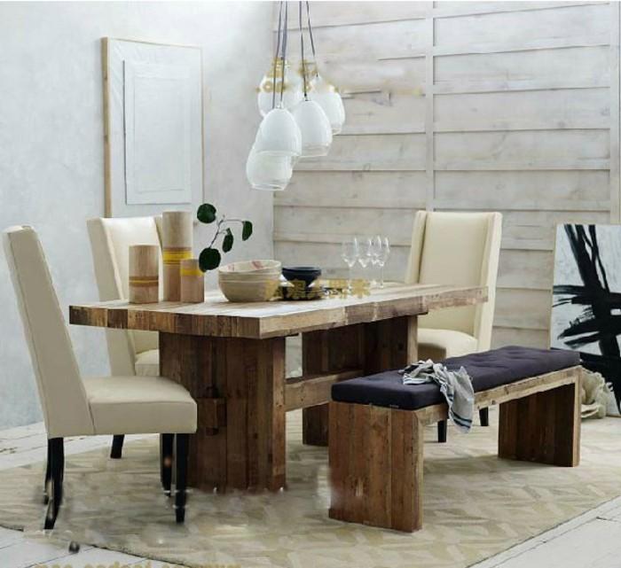 beau-amenagement-style-rustique-table-ronde-extensible-superbe-idee-decoration-design-intérieur