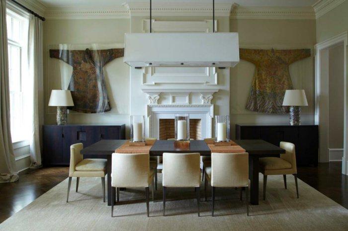 belle-salle-a-manger-votre-chaises-alinea-ikea-salle-a-manger-table-à-manger-ronde-design