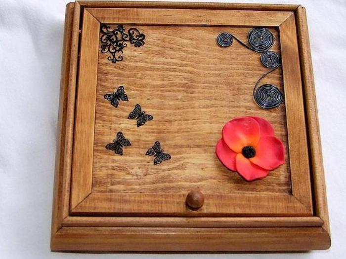 boite-à-bijoux-en-bois-coffret-à-bijoux-carré