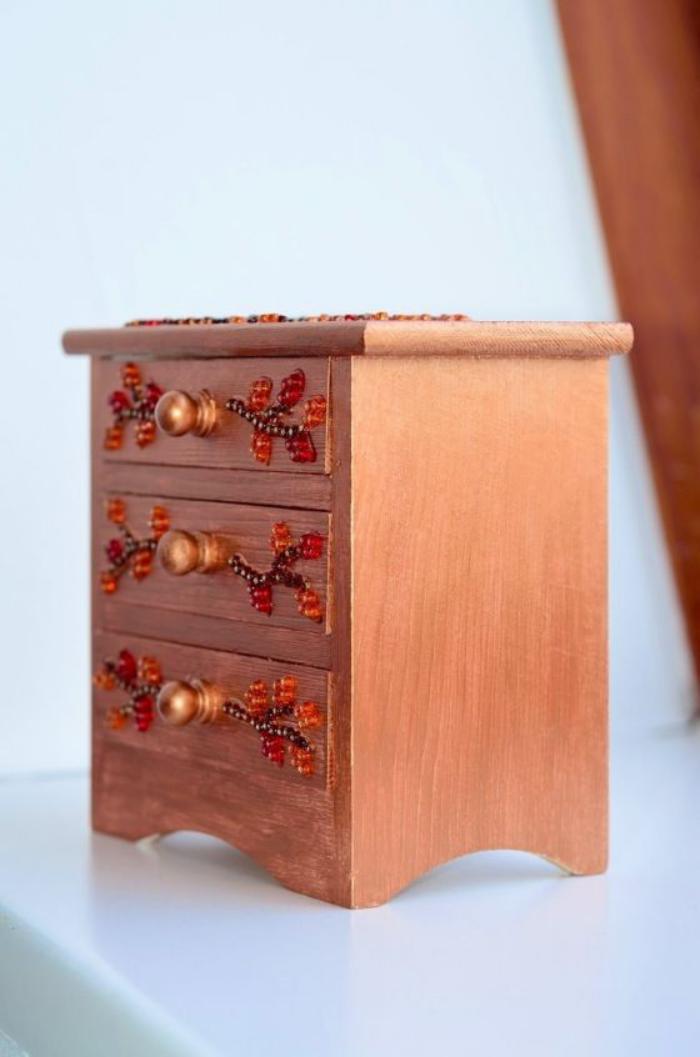 boite-à-bijoux-en-bois-coffret-à-bijoux-trois-tiroirs
