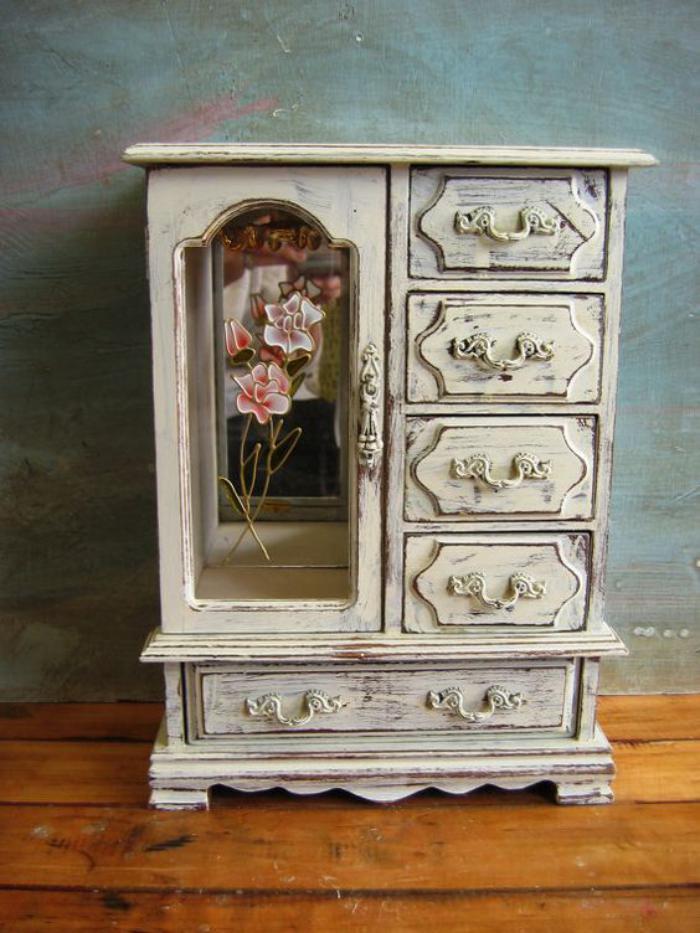 boite-à-bijoux-en-bois-quatre-tiroirs-boite-shabby-chic