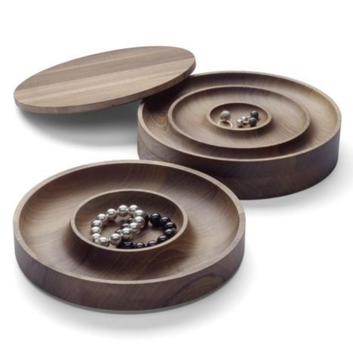 La bo te bijoux en bois 43 photos de belles boites en for Boite de rangement ronde