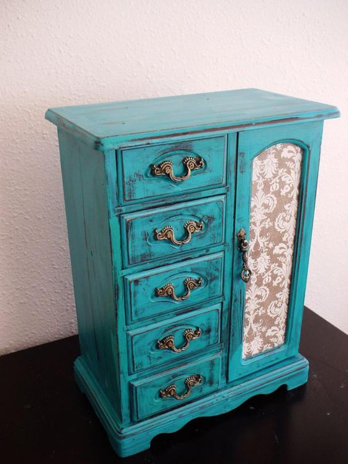boite-à-bijoux-en-bois-style-shabby-chic-turquoise