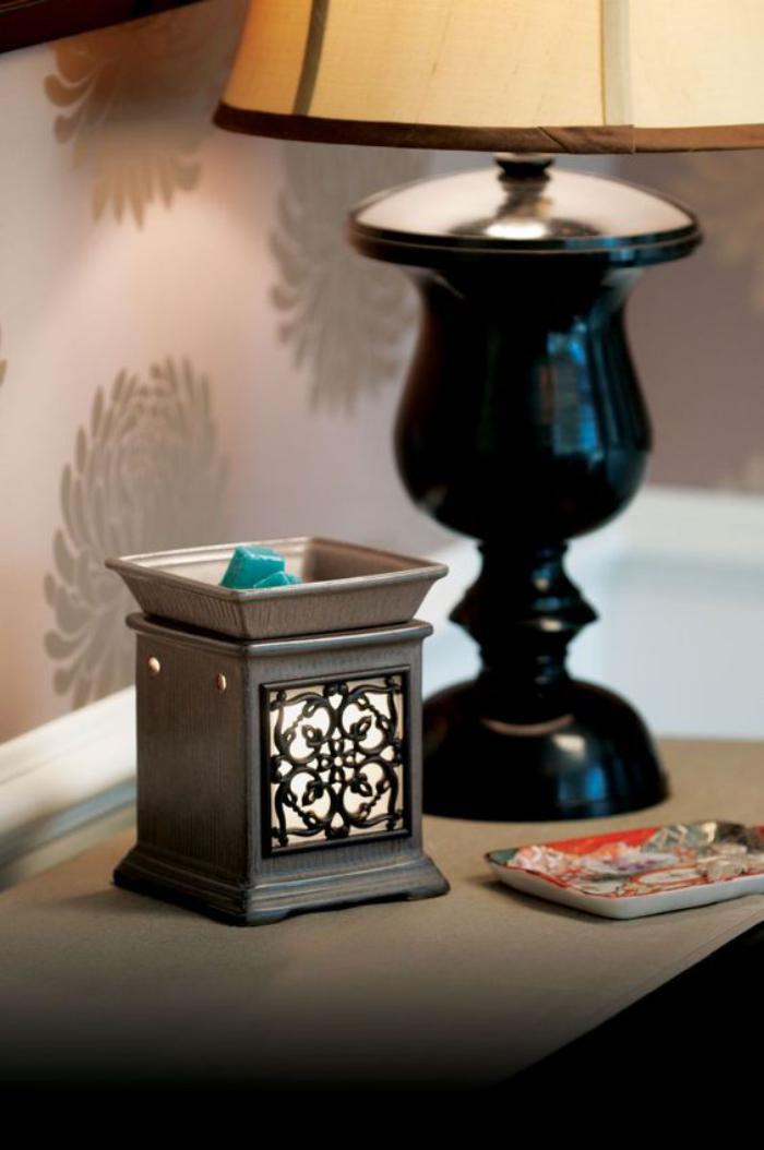 brûle-parfum-bougeoir-lanterne-et-fondant-aromatisé