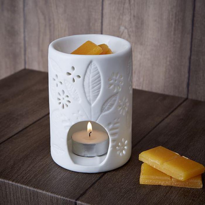 brûle-parfum-modèle-doux-en-blanc-avec-fondant-pour-bougie