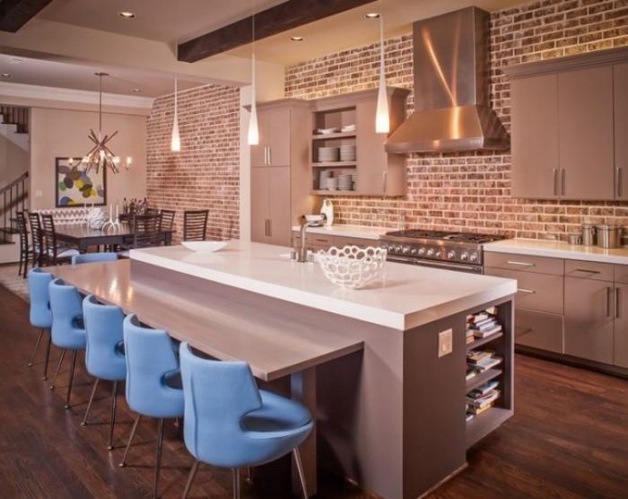 Les briques de parement et les briques apparentes int rieurs esprit loft - Plaquette de parement pour cuisine ...
